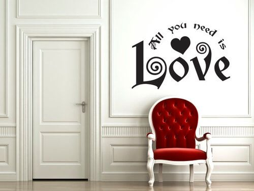 Love quote red white chair