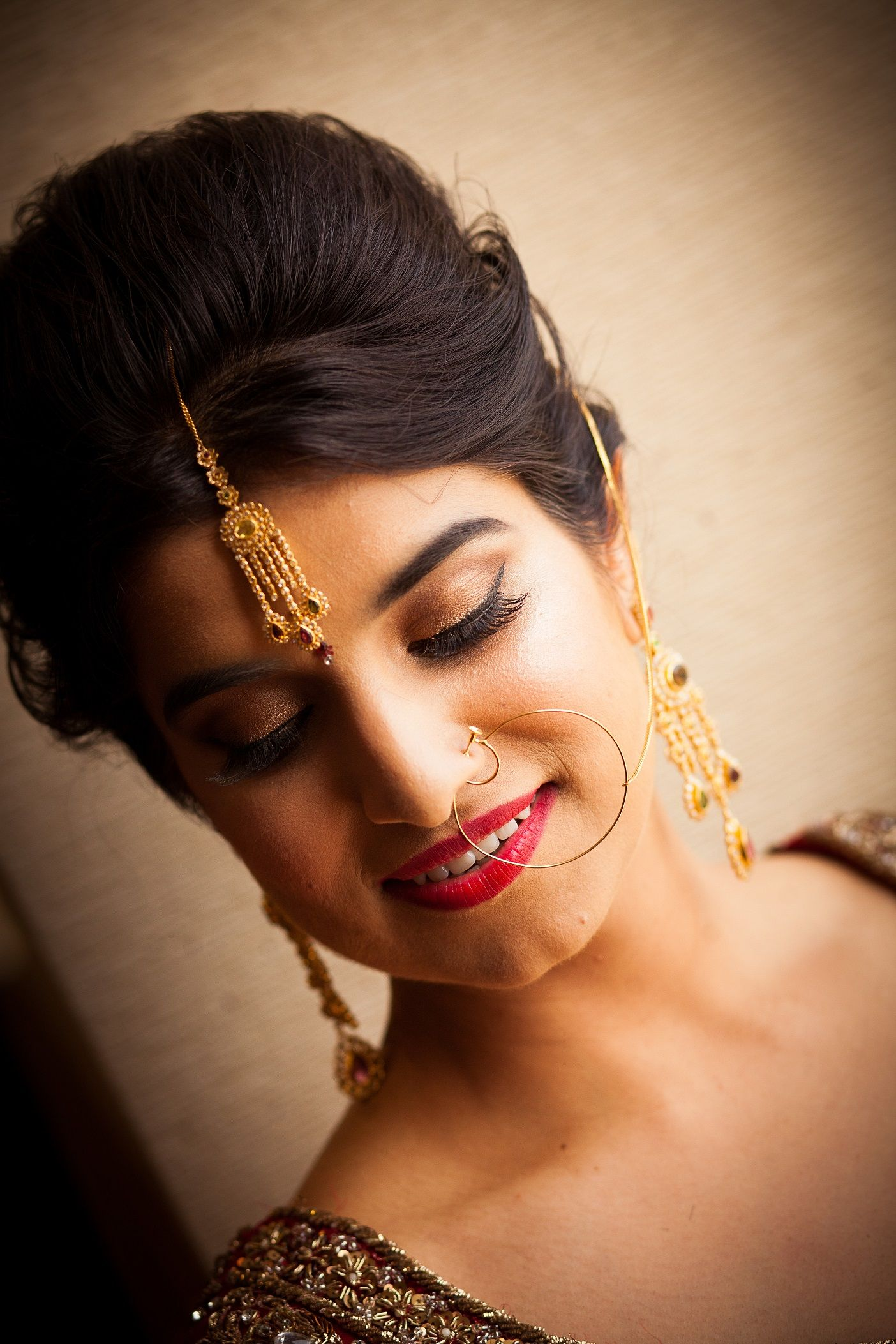 stunning south asian - indian wedding hair & makeup by appease inc