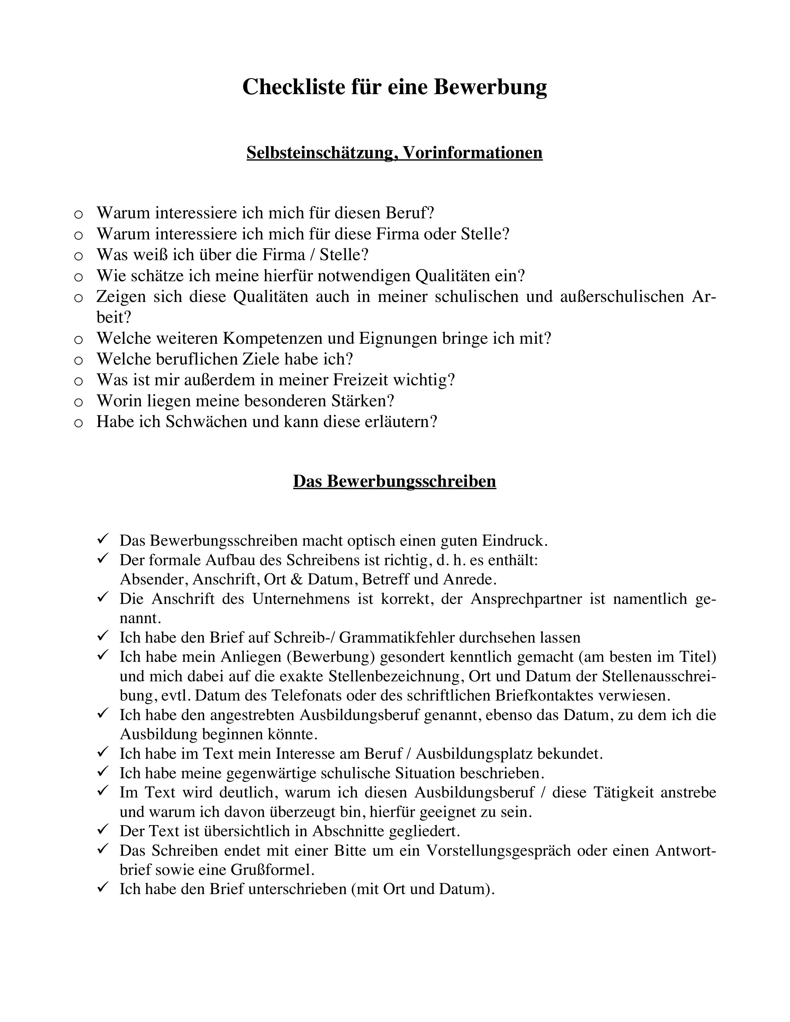 Checkliste Zum Schreiben Einer Bewerbung Bewerbungsmappe Unterrichtsmaterial In Den Fachern Arbeitslehre Deutsch Bewerbung Bewerbung Schreiben Lernen Tipps Schule