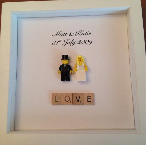 Wedding Gift Lego Bride and Groom Picture Frame by LuMaGifts