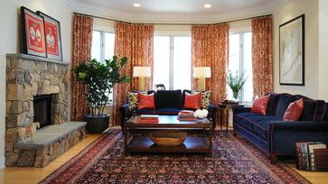 navy blue and red living room ideas pictures of curtains drapes oriental rug design remodel decor