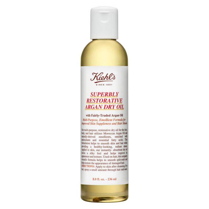 Huile sèche à l'huile d'argan, Kiehl's, 45€ - 10 huiles sèches pour une peau de pêche - Elle