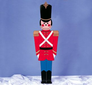 Outdoor Toy Soldier Christmas Decorations.Toy Soldier Christmas Yard Display Life Size 5ft By