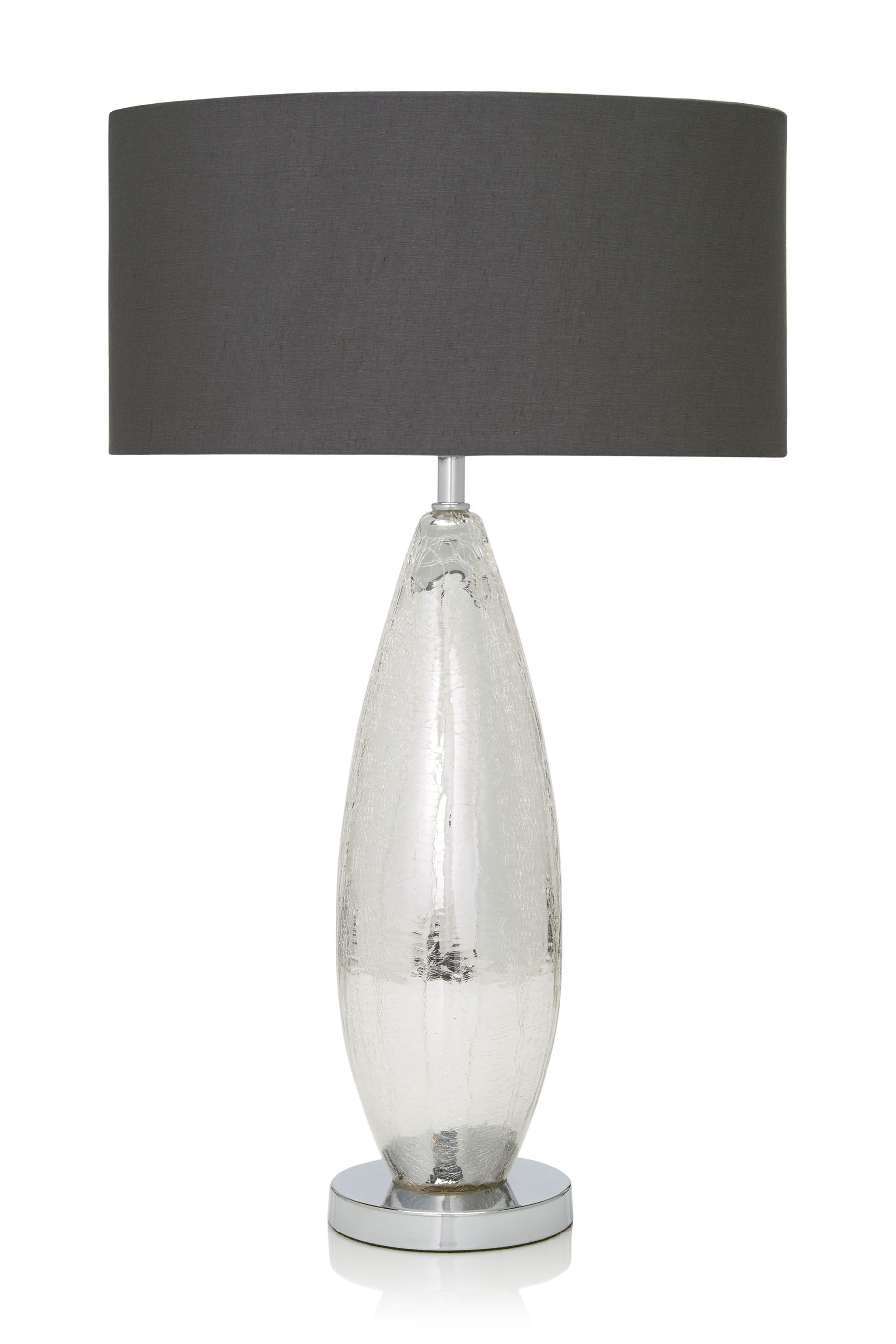 Buy Silver Crackle Lamp From The Next Uk Online Shop