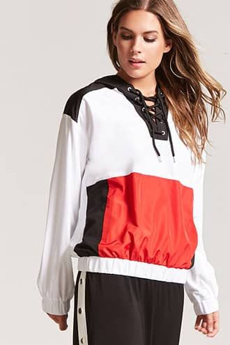 best website 68f61 e0724 Colorblock Flag Graphic Anorak | Products | Outerwear ...