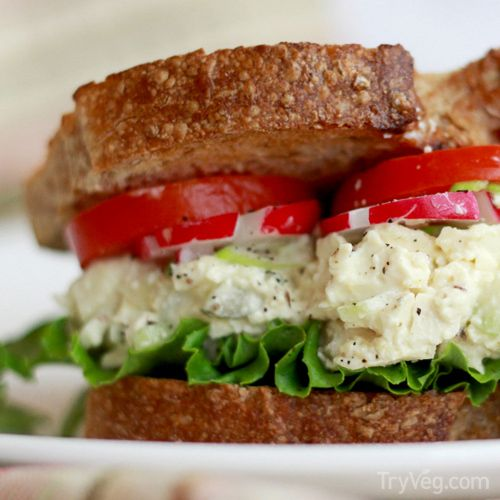 Vegan recipe from TryVeg: Tofu Egg Salad Sandwiches
