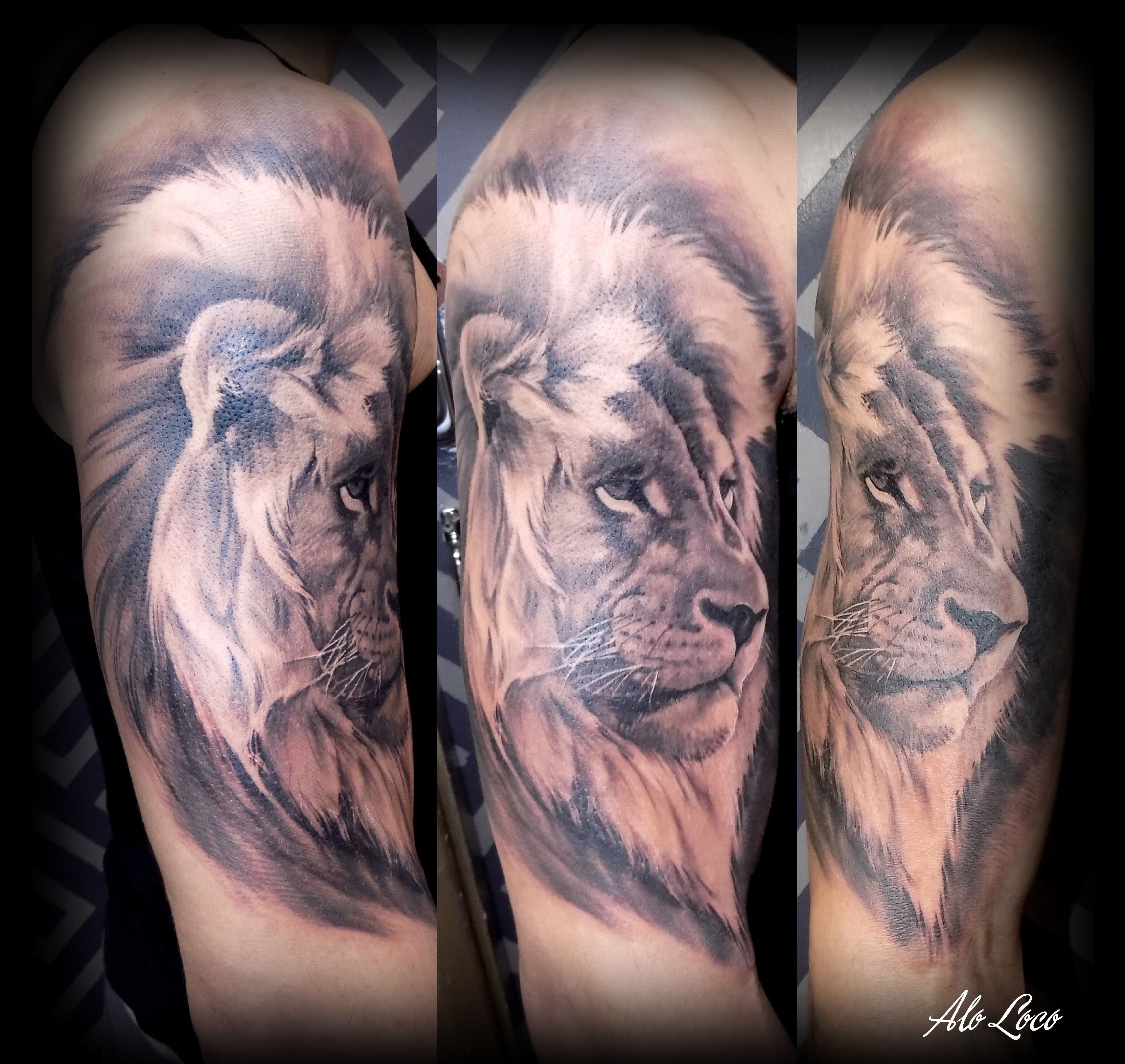 150 realistic lion tattoos and meanings 2017 collection - Alo Loco London Tattoo Artist Realistic Lion Portrait Tattoo