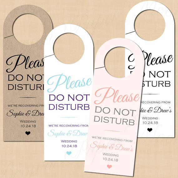 How To Make An Itinerary In Word Calligraphy Wedding Itinerary Do Not Disturb Door Hangers Text .