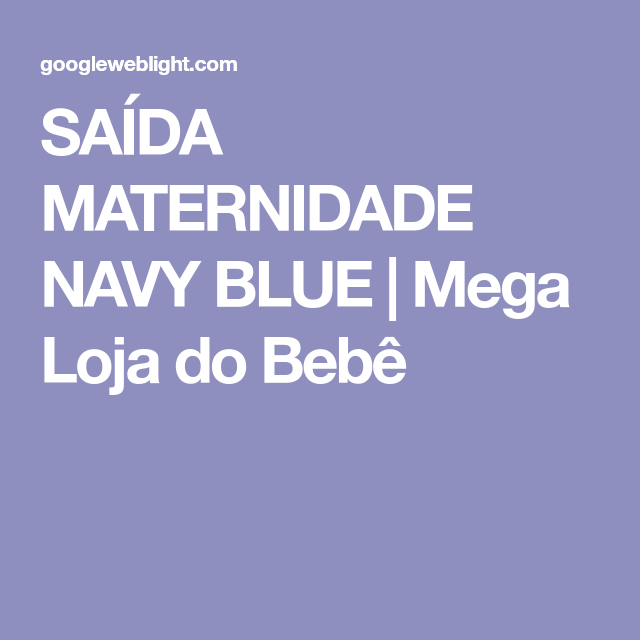 5edd33ebb3c60 SAÍDA MATERNIDADE NAVY BLUE