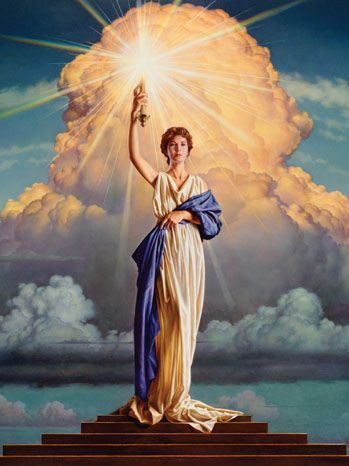 Lady With The Light The Logo For Columbia Pictures Is