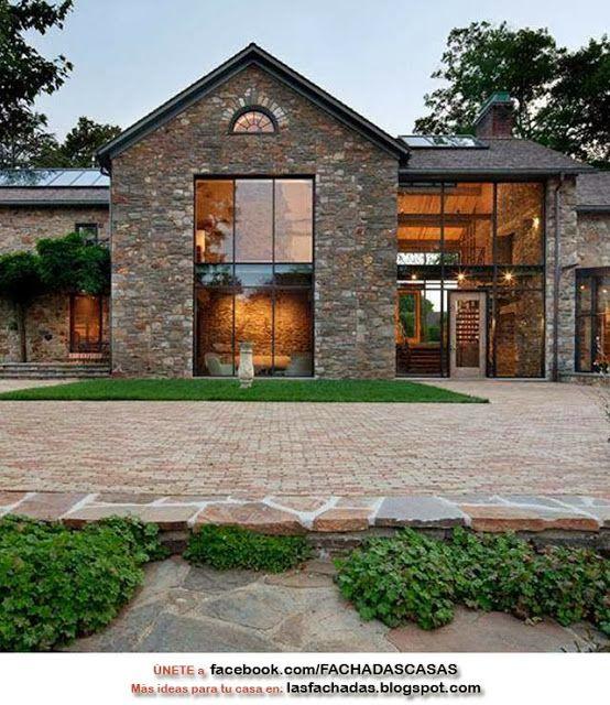 Frentes de piedra casas buscar con google casa tigre for Frentes de casas con piedras