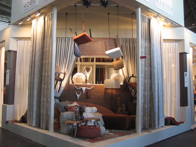 Kobe stand @heimtextil - Messe Frankfurt - Messe Frankfurt #interiors #contractfabrics #decoration #lifestyle #fabrics #nomad