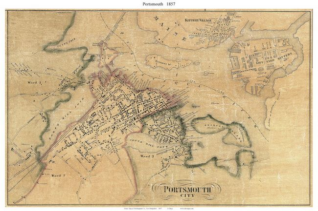 Old Maps Of Potrtsmouth Nh Old Maps Old Map Map