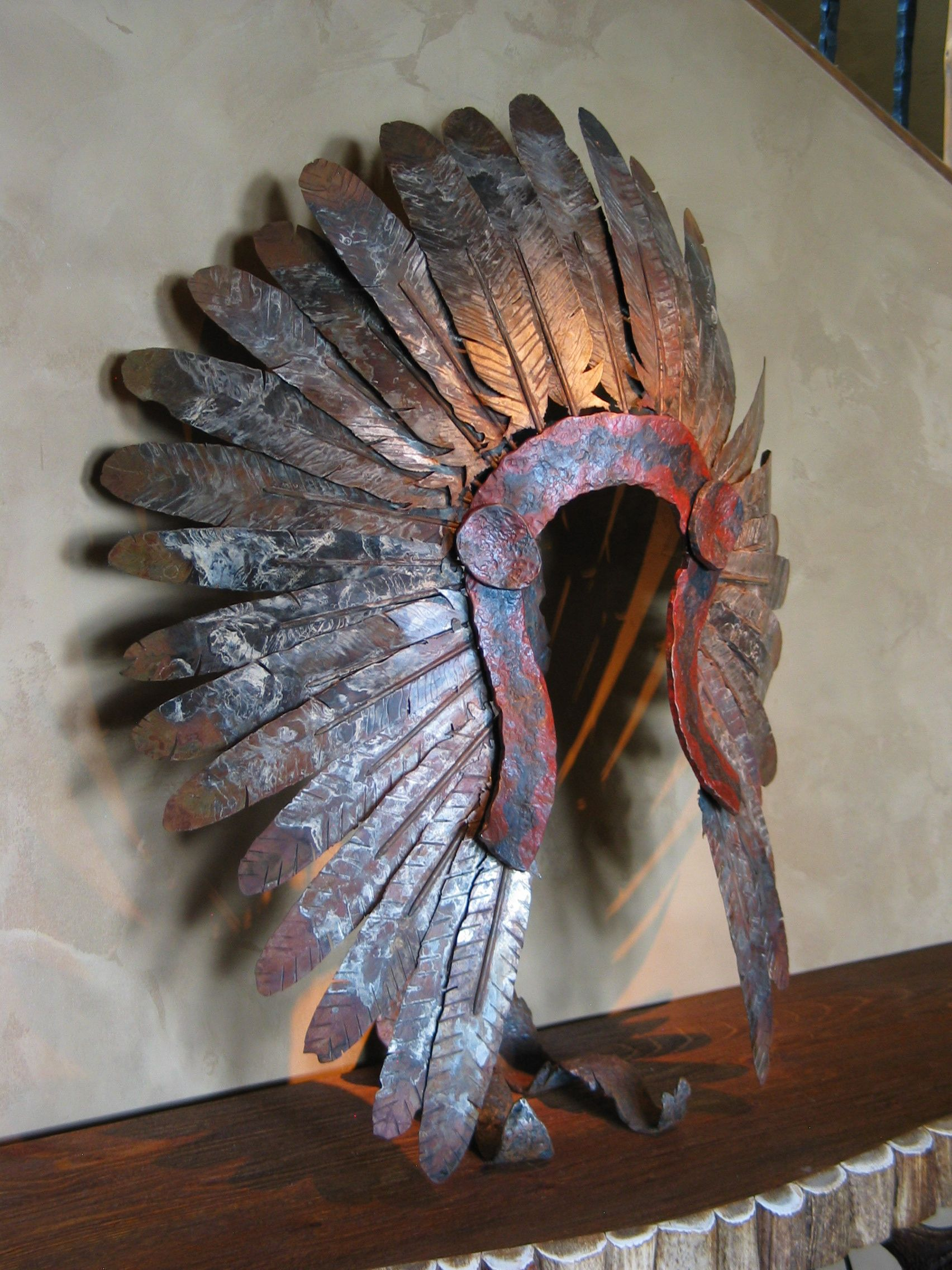 Quot Middle River Quot Native Headdress Sculpture Creations
