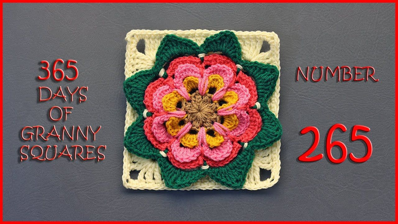 Youtube Wolldecke Stricken 365 Days Of Granny Squares Number 265 Youtube Häkelideen