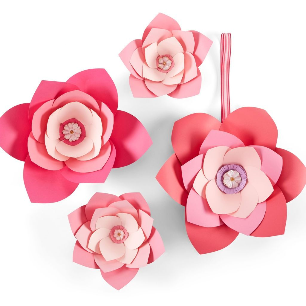 Make these easy Oversized Paper Flowers using the template provided