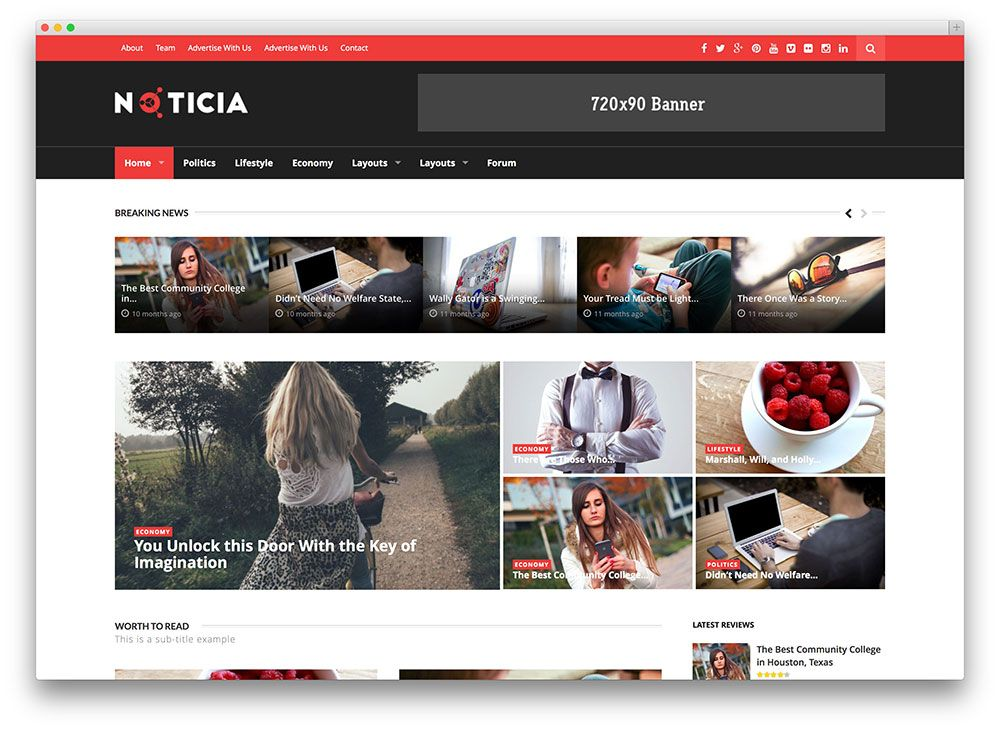 Noticia WordPress Theme Free Download Noticia is a sleek and ...