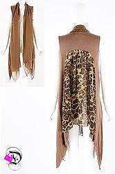 Mocha Leopard Sleeveless Cardigan $41.99 Divalicious