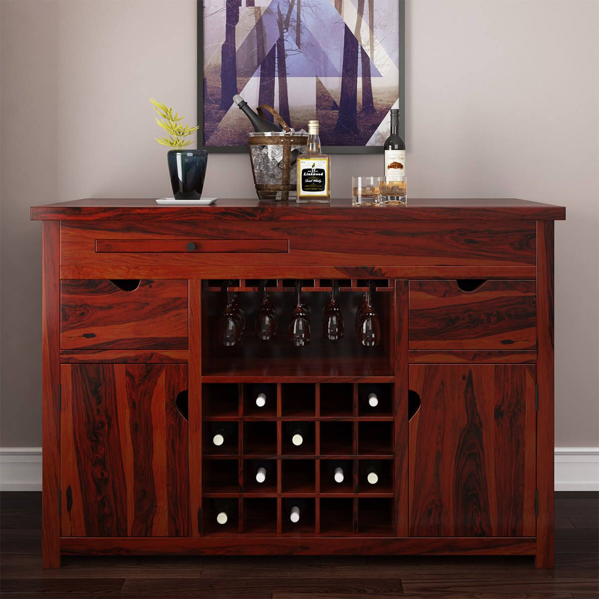 Pin By Sierralivingconcepts Rustic On Bar Cabinets Sierralivingconcepts Com Wine Storage Wine Bar Cabinet Wood Buffet