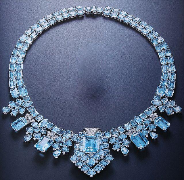 Cartier London Art Deco Aquamarine Necklace By Clive Kandel Via Flickr