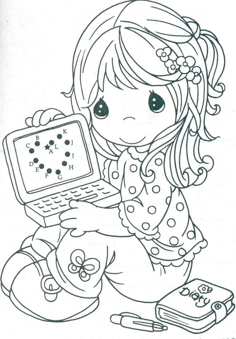 heart screen precious moments coloring pages colorear