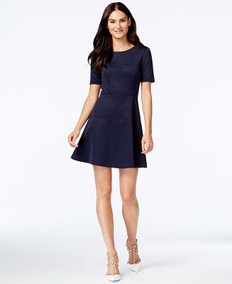 67e02c60741 CeCe by Cynthia Steffe A-Line Scuba Dress - Women - Macy s