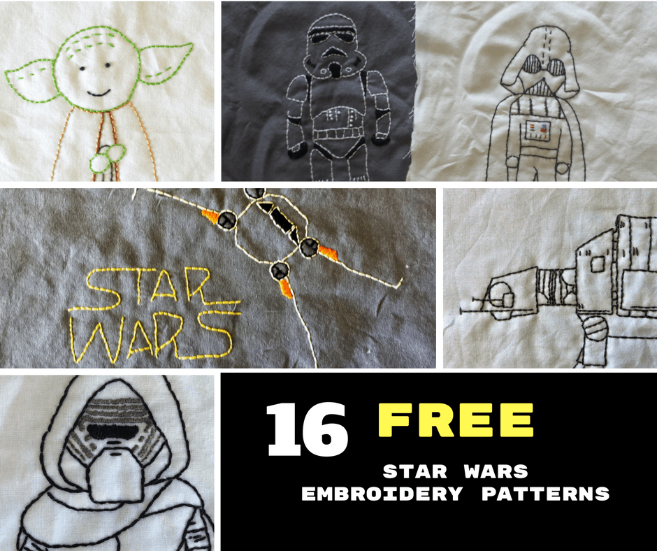 16 Free Star Wars Embroidery Patterns Geeknots Embroidery For
