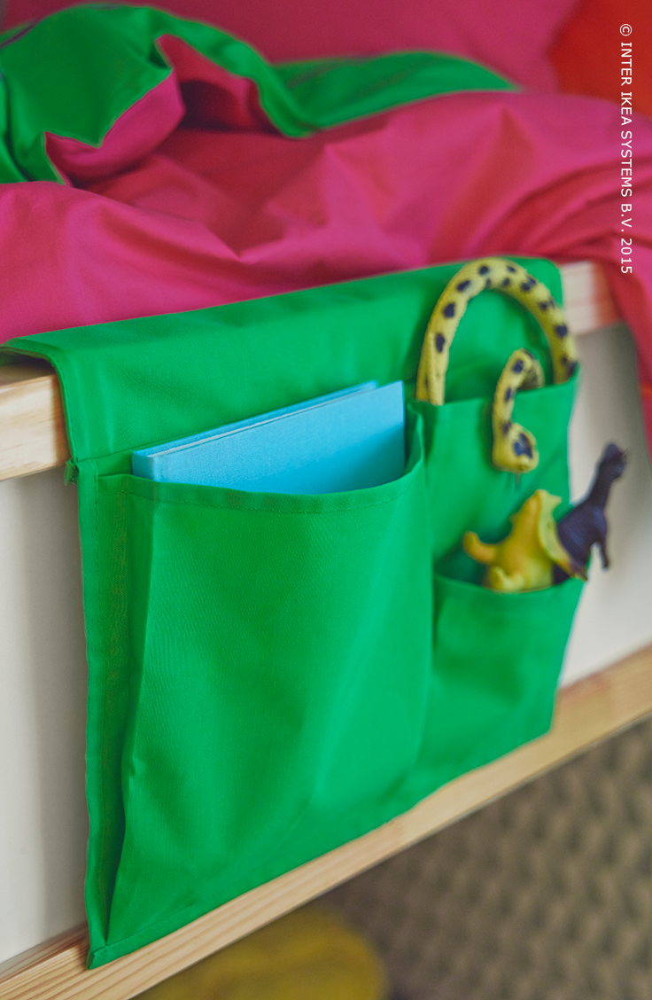 stickat poche rangement pour lit vert 39x30 cm clutter catalog and kids rooms. Black Bedroom Furniture Sets. Home Design Ideas