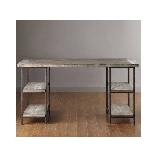 Reclaimed-Design-Wood-Desk-Metal-Frame-Furniture-Table-Storage-Industrial-Chic