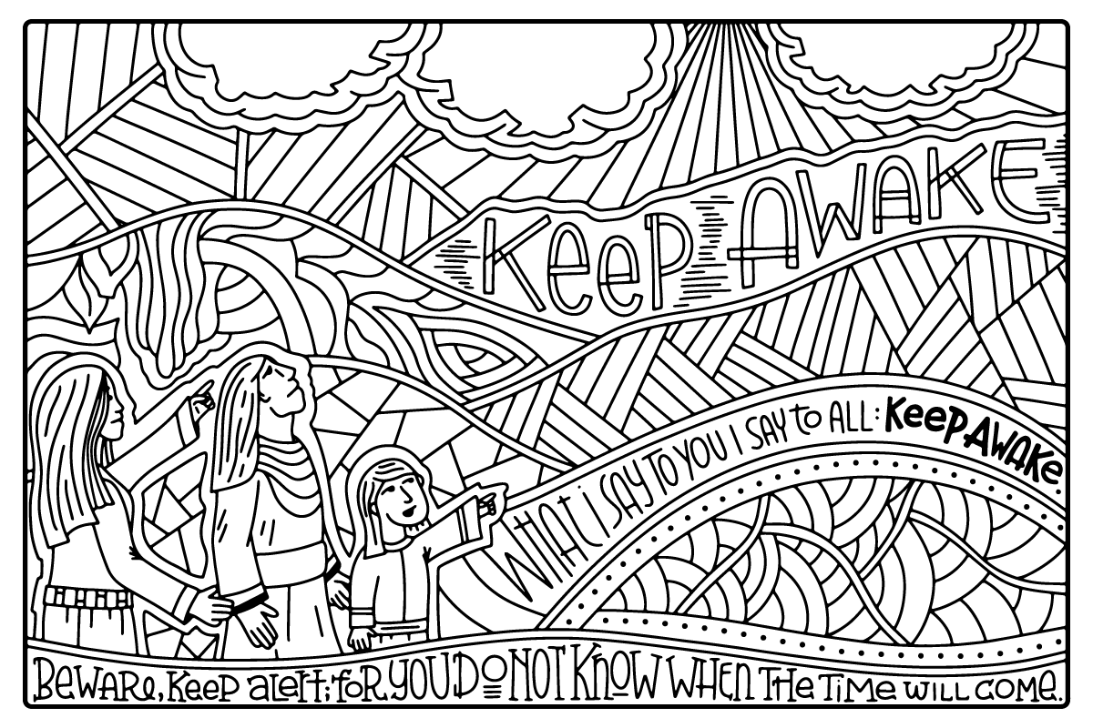 Advent Journey Coloring Posters Advent art projects