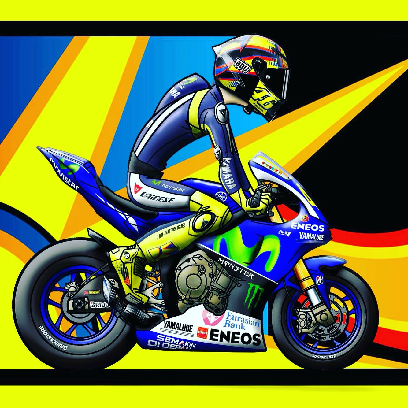 cartoon valentino rossi news 6am. Black Bedroom Furniture Sets. Home Design Ideas