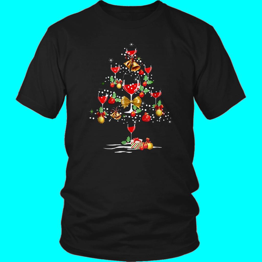 061cdfbe5 Wine Christmas Tree T-Shirt Wine Xmas T Shirt | trending t shirt ...