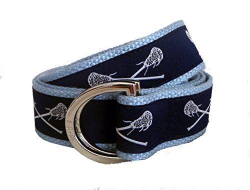 0ae9a6e4cb9 No27 Mens Navy Blue Lacrosse Belt Navy Blue Lacrosse Ribbon on Webbing of  you Choice