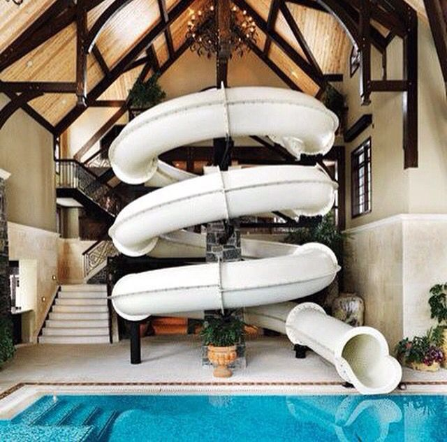 Fun An Amazing Swimming Pool Idea Awesome Indoor SLIDE