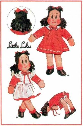 Little LuLu Vintage Stuffed Doll Toy Sewing Pattern | Doll toys ...
