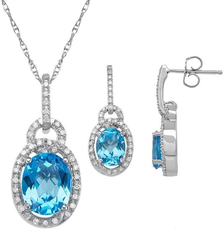 Fine Jewelry 1/3 CT. T.W. Genuine Blue Diamond Sterling Silver Drop Earrings GEOlvmS