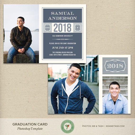 5x7 Graduation Announcement Card Template
