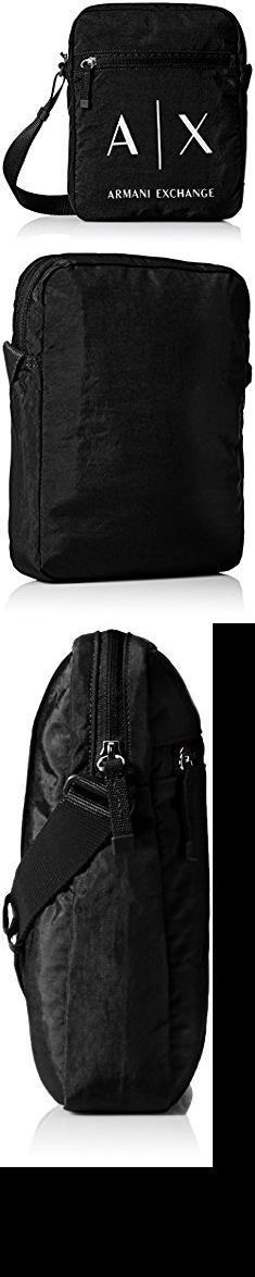 Armani Bags Exchange Men S Light Weight Crinkle Nylon Logo Crossbody Satchel Bag
