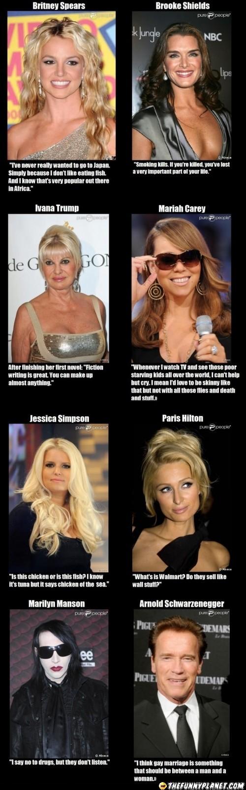 Dumb Celebrity Quotes Celebration Quotes Celebrities Dumb Quotes