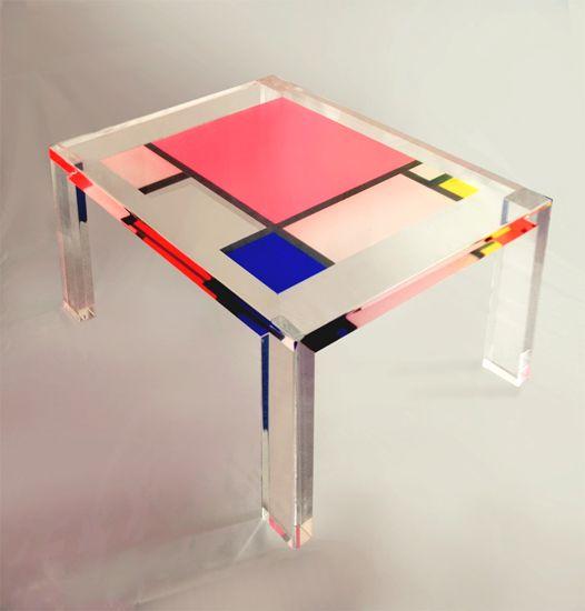 Table Basse Plexiglas Par Poliedrica Table Basse Mondrian