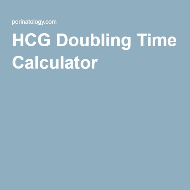 HCG Doubling Time Calculator==You can use the calculator below to