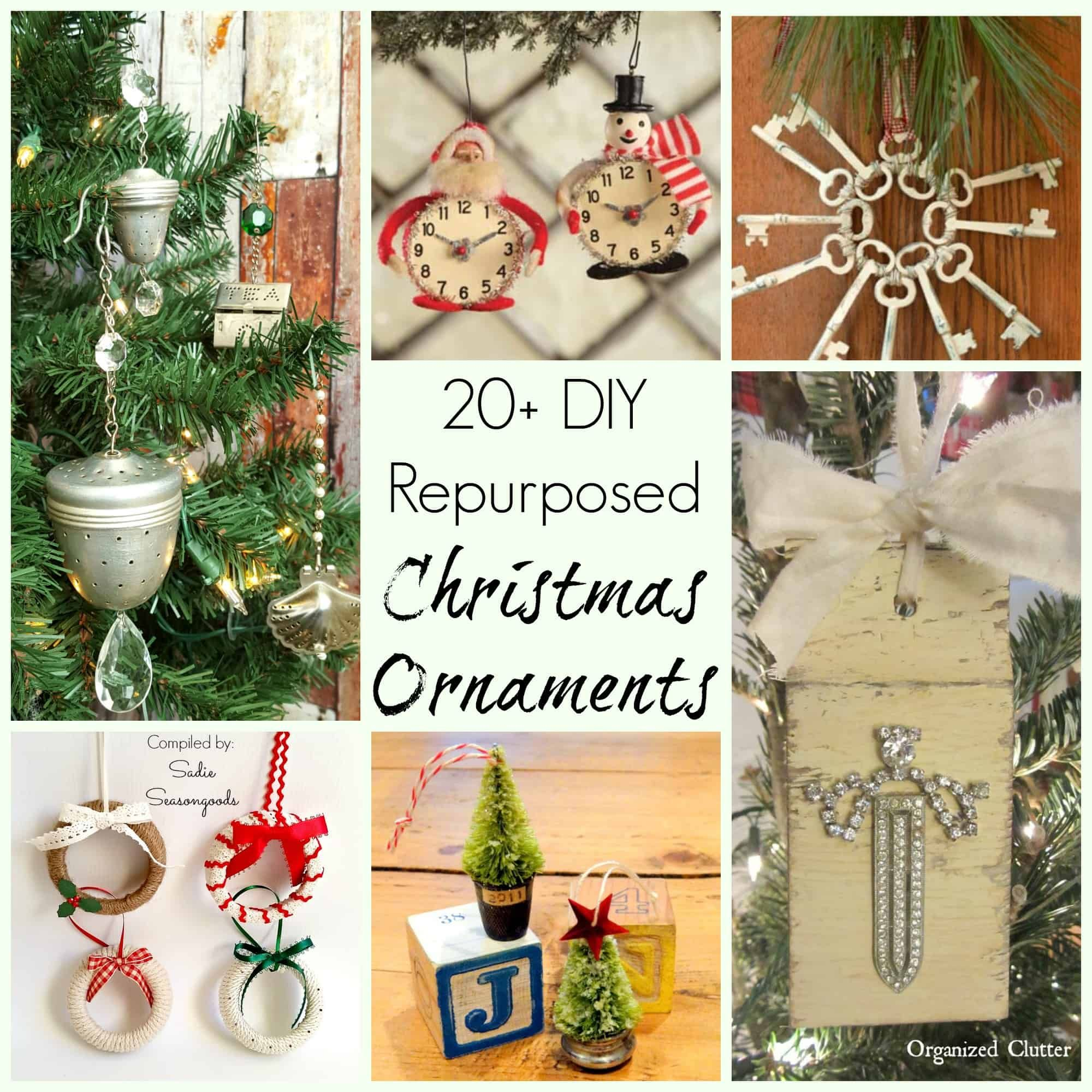 30 Upcycled And Repurposed Ornaments For Your Christmas Tree Diy Xmas Ornaments Yule Crafts Christmas Crafts