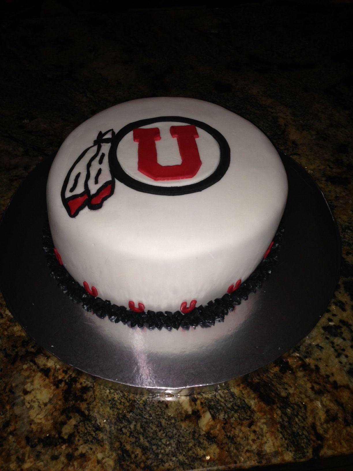 Utah Ute Cake Utes Stuff Boy Birthday Cakes Frosting
