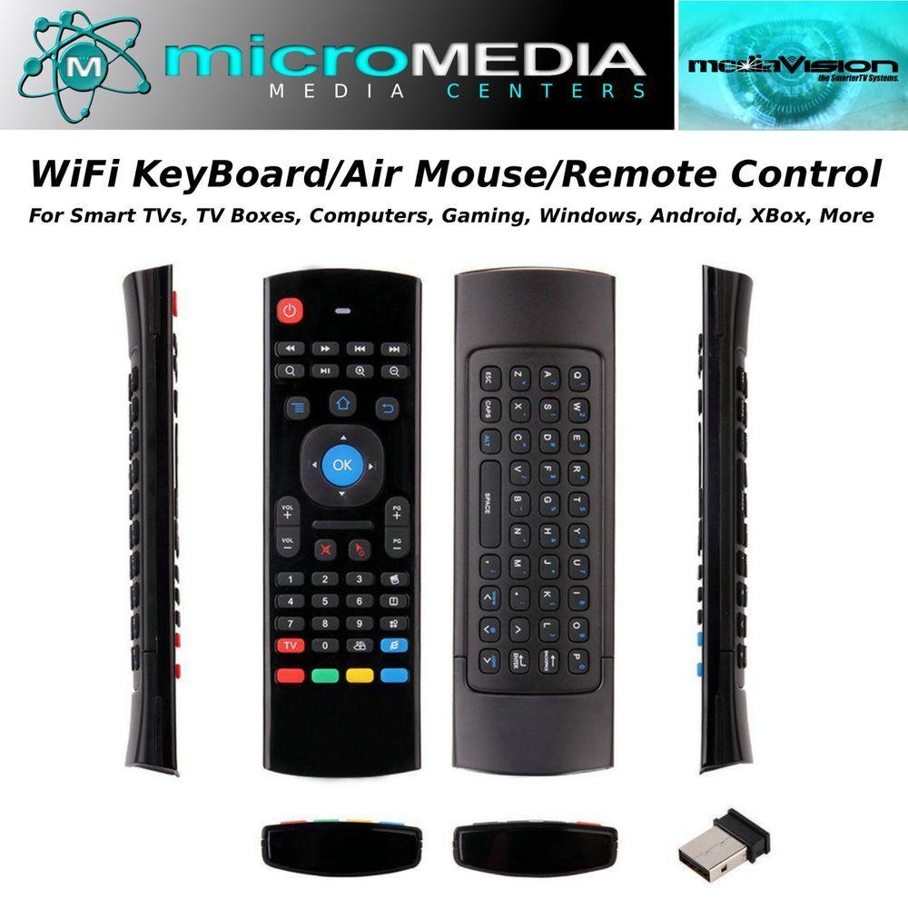 Wireless Keyboard AirMouse PCs Smart TVs TV box XBox