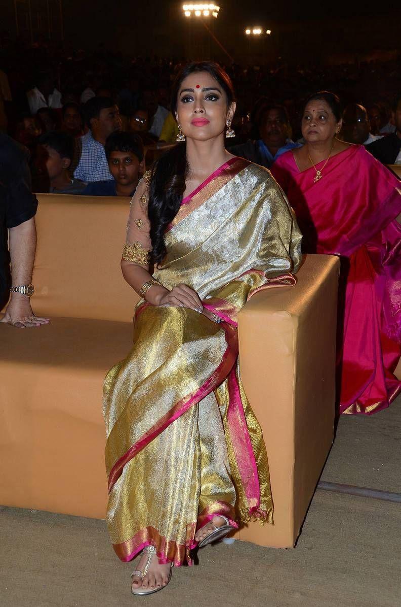 Shriya Saran Latest Hot Glamourous Traditional Saree PhotoShoot