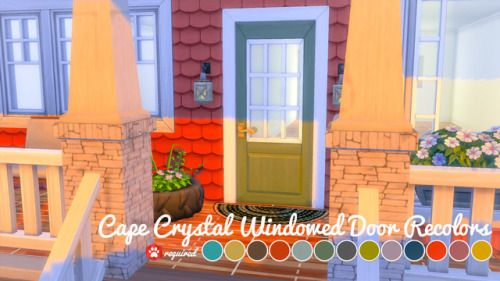 Mellocakes Cape Crystal Windowed Door Recolors I Have To Say