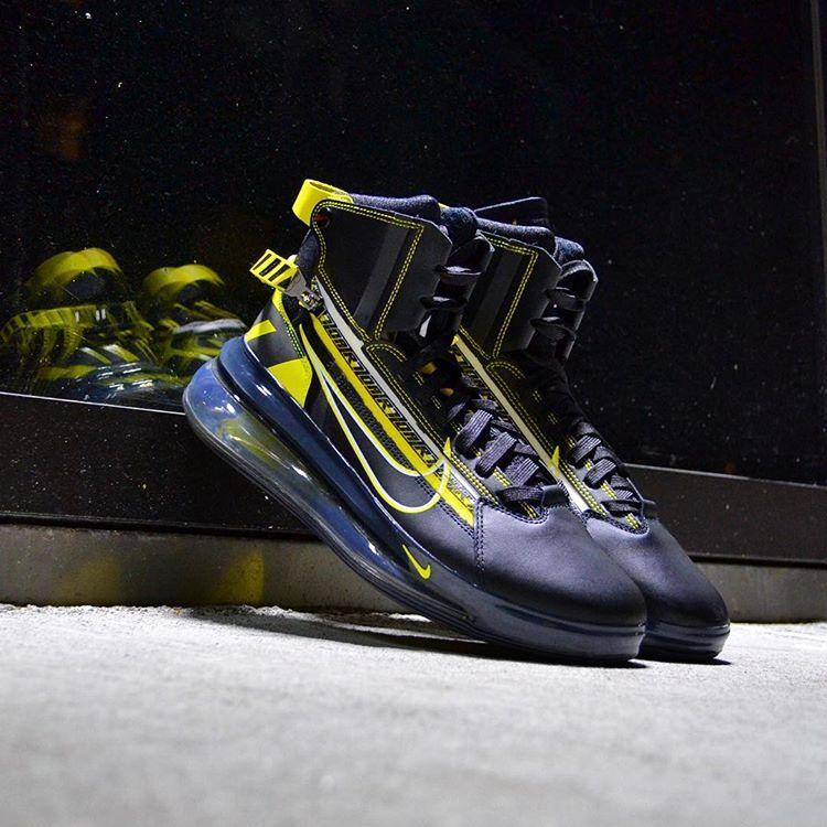 reputable site 606b4 e61eb Nike Air Max 720 Saturn AS QS  Black Dynamic Yellow