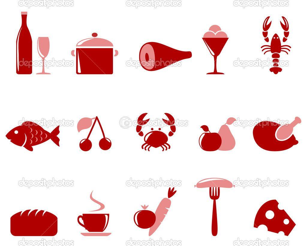 Deposit Photos Icon Food Set Iconic Photos Food Icons Icon