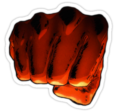 """""""One Punch Man Fist"""" Stickers by ProdigyJin 