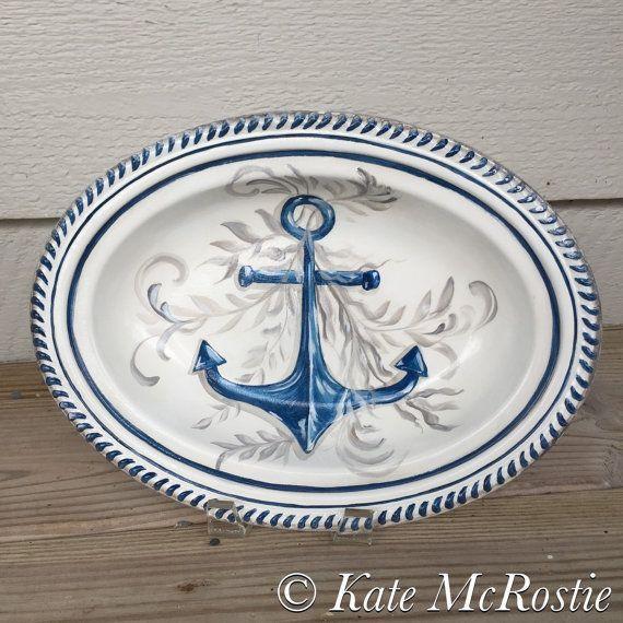 Nautical tray decorative tray Kate by KateMcRostieHandmade on Etsy · Decorative TraysCoastal DecorDinnerwareNautical & Nautical tray  decorative tray  Kate McRostie  coastal decor ...